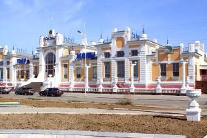 Фото Кызылорды, вид на город днем, вокзал