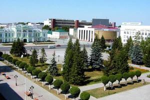Уральск, вид на город