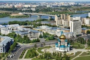 Павлодар, вид на город, набережная